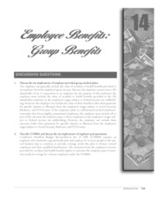 chapter 14 employee benefit group benefits