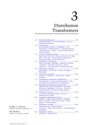 Chapter 3. Distribution Transformers