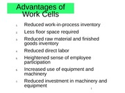 Advantages of Work Cells