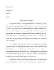 ZOO 121 Take Home Essay