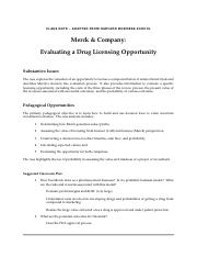 Merck Student Case Note (Spring 2016).doc