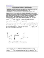 27. Magnetic Field and Magnetic Forces