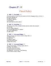 FISCAL POLICY 3