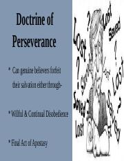 Lecture 23- Perseverance