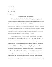 National Fishing Essay (George)