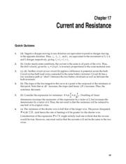 1_Chapter 16 HomeworkCH17 Current and Resistance