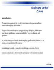 #8- Grades and Vertical Curvature.ppt