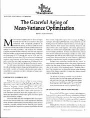 5-The Graceful Aging of MVO