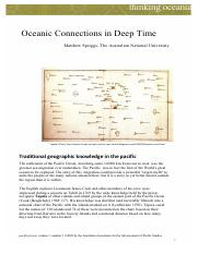 Spriggs, M. (2009) Oceanic Connections in Deep Time.pdf. In Pacificurrents, Issue 1, Vol. 1.