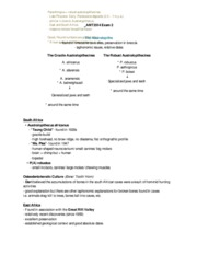 ANT3514C Exam 3 Review Sheet