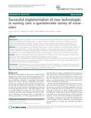 successful implemenations of tech in nursing.pdf