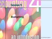 Session 9 -Budgeting - Chatper 9