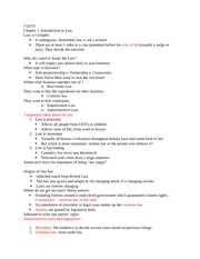 Class Notes Exam 1