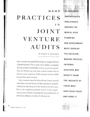 Class 2 - Best Practices in Joint Venture Audits
