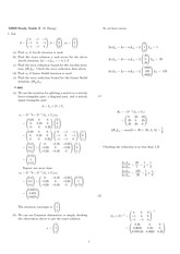 Exam 2 Study Guide Solution Fall 2007 on Engineering Mathematics III (Numerical Methods)