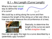 Lecture 11 - Arc Length and Surface Area