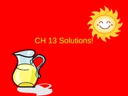 CH 13 Solutions