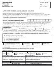 Uni of Westminster Postgraduate-Scholarship-Application-Form-2014-15.docx