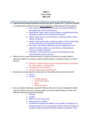 Exam  1 Study Guide.doc