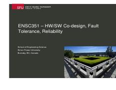 1413579286_717__Ensc351-08-HWSW_CoDesign_Fault_Tolerance_and_Reliability