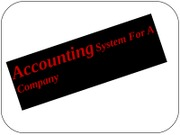 Acounting System For A Company