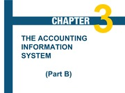 The Accounting Information System Part B Chapter 3