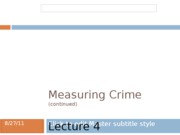 Measuring Crime 2