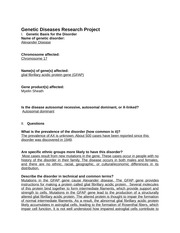 Genetic Diseases Research Project