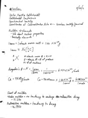 Notes on History, Elements, Isotopes, Goldschmidt's classification
