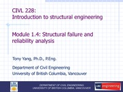 CIVL 228 Module (1.4) - Structural failure and reliability analysis - Full
