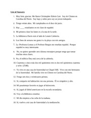 Oral Answers in Spanish