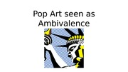 Pop Art connected to the American Society