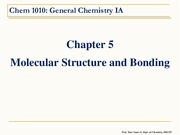 Chem 1010 - Chapter 5.0 Molecular Structure and Bonding