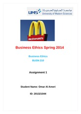 Business Ethics Spring 2014