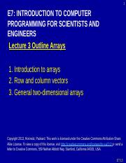 E7_Lecture3_F13 - arrays string polynomials