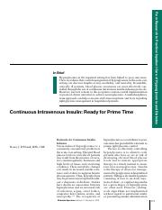 Continuous IV insulin article.pdf