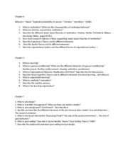 Study Guide Second Exam-Summer 2015