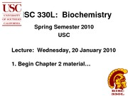 BISC 330 Spring 2010 Lecture 4