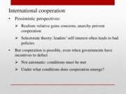 Lecture Slides 11 International Cooperation