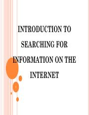 8th Presentation- INTRODUCTION TO SEARCHING FOR INFORMATION ON THE INTERNET.pdf