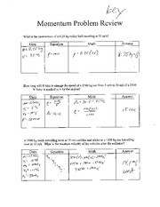 Worksheets Wave Speed Worksheet frequency period and wavespeed worksheet a solutions 2 pages momentum problem review solutions