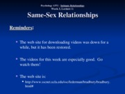 Wk. 3, Lect. 1 - Gender & Sexual Orientation