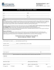 excess-units request form