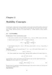 Chapter 2 stability