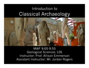 Introduction to Archaeology Lecture Slides