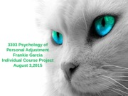 3303 Psychology of Personal Adjustment