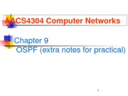 Chapter 9 - OSPF practical