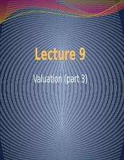 Lecture 9 - Valuation 3.pptx