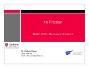 Lecture Slides - 1b Friction-1