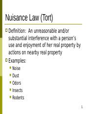 Nuisance Law.ppt